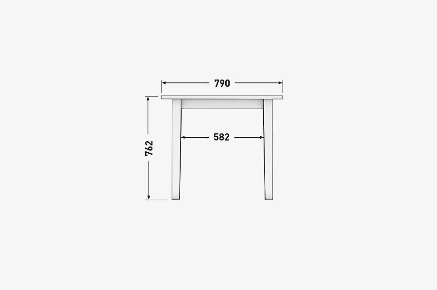 Solenn Design Tisch Knorke 02 Technische Zeichnung Front